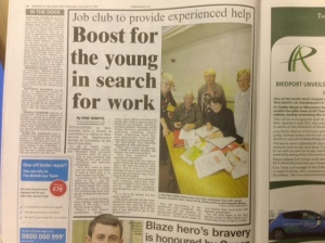 Beaminster Job Club - up and running for six months now